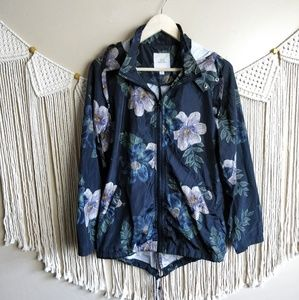 Thread & Supply Hooded Floral Bomber Jacket S